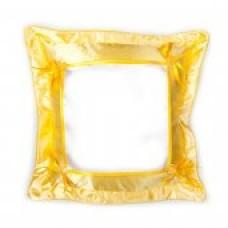 Печать на желтой подушке 40см х 40см