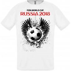 Футболка Fifa 2018 мяч с крыльями