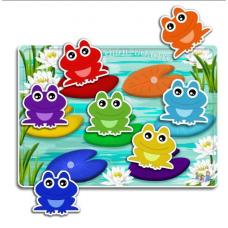 Цветовое болото - интерактивные карточки на липучках