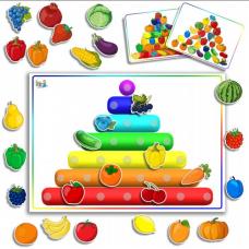 Витаминная пирамида - развивающие карточки на липучках