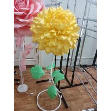 Cветильник цветок ростовой из изолона, желтый цвет