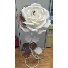Светильник изолон ростовой цветок,  бело-коричневый цвет