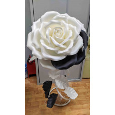 Светильник изолон ростовой цветок, бело-черный цвет